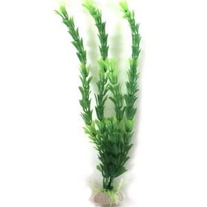 PP120B Plastic Plant Green Round Leaf Bush 405mm at Rebel Pets
