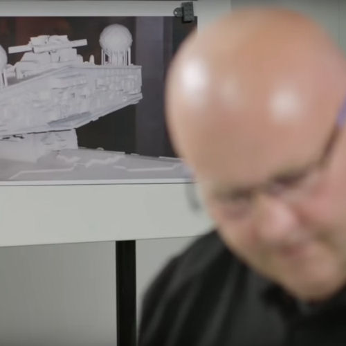 LEGO set designer Henrik Andersen researches Star Destroyer designs