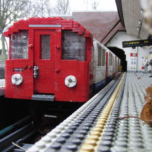 LEGOLAND Windsor Miniland model of Tube train