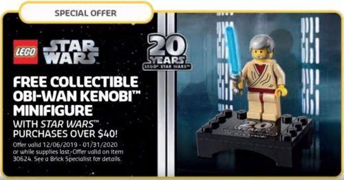 LEGO Star Wars Oni-Wan Kenobi minifig promotion flyer
