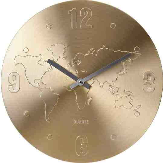 earth map clock