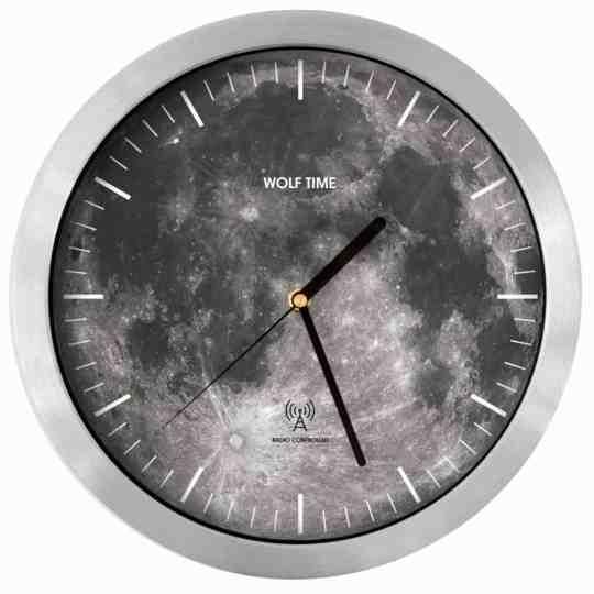 la lune moon radio controlled wall clock
