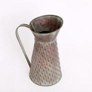 rustic zinc jug