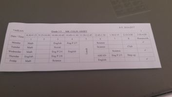 daily schedule for TESOL english teacher