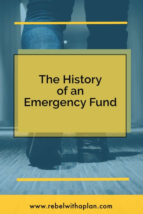 What has your history with an emergency fund been like? I share my experience over the years having one.