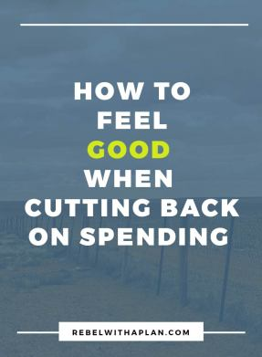 Saving money is about more than just saving money. How does it make you feel? Click though to read about how to approach cutting back in a positive way.