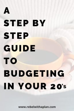 step by step guide to get started budgeting