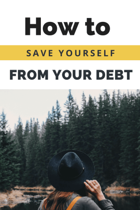how to save yourself from debt