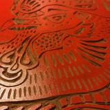 Linocut Red