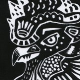 Linocut Black Detail