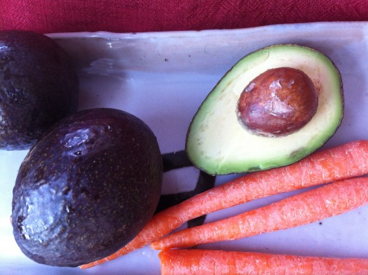 avocados and carrots