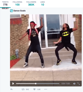 screenshot of video of happy teenagers dancing