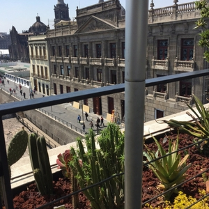 overlooking the main central square in Mexico City