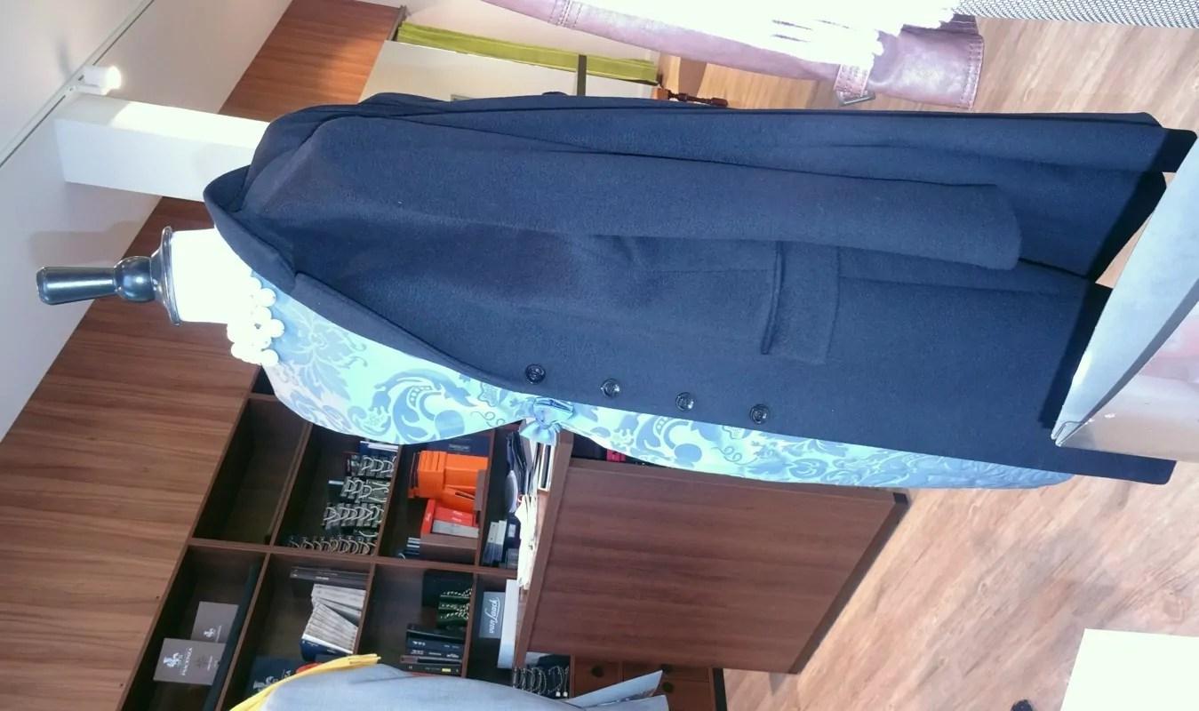 Damen Mantel Kaschmir dunkelblau