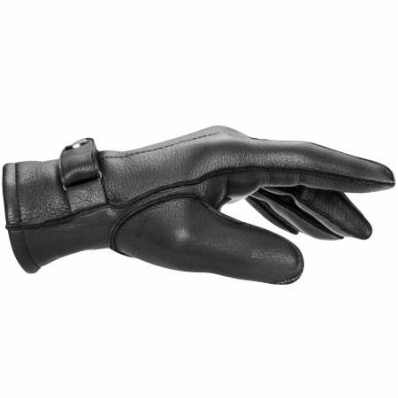 Pearlwood Handschuh Henry Hirschleder schwarz Seitenansicht