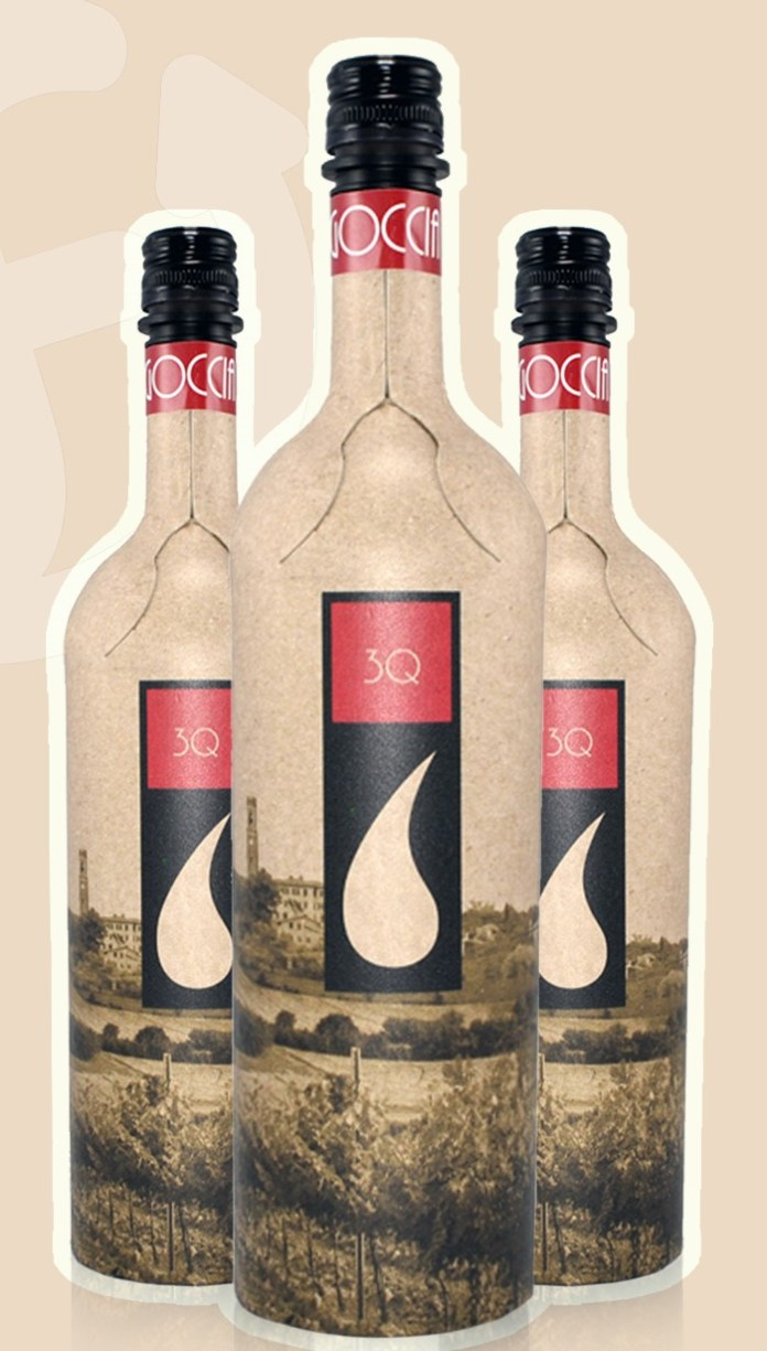 recycled paper wine bottle