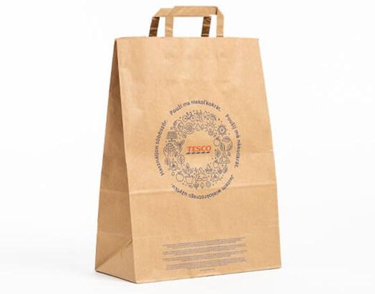 Mondi Tesco paper shopping bags