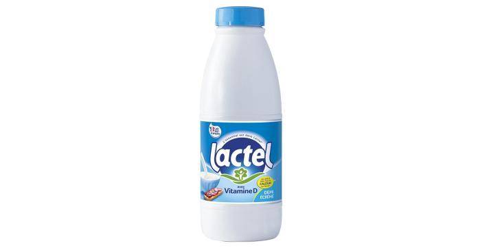 Lactel milk bottle