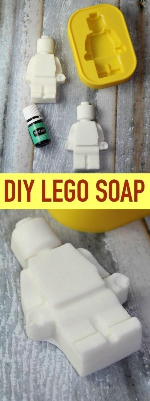 DIY LEGO Soap with Essential Oils
