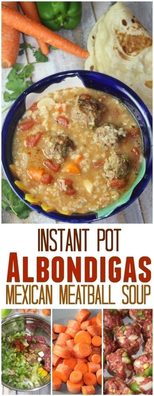Mexican Albondigas Soup (Instant Pot Recipe)