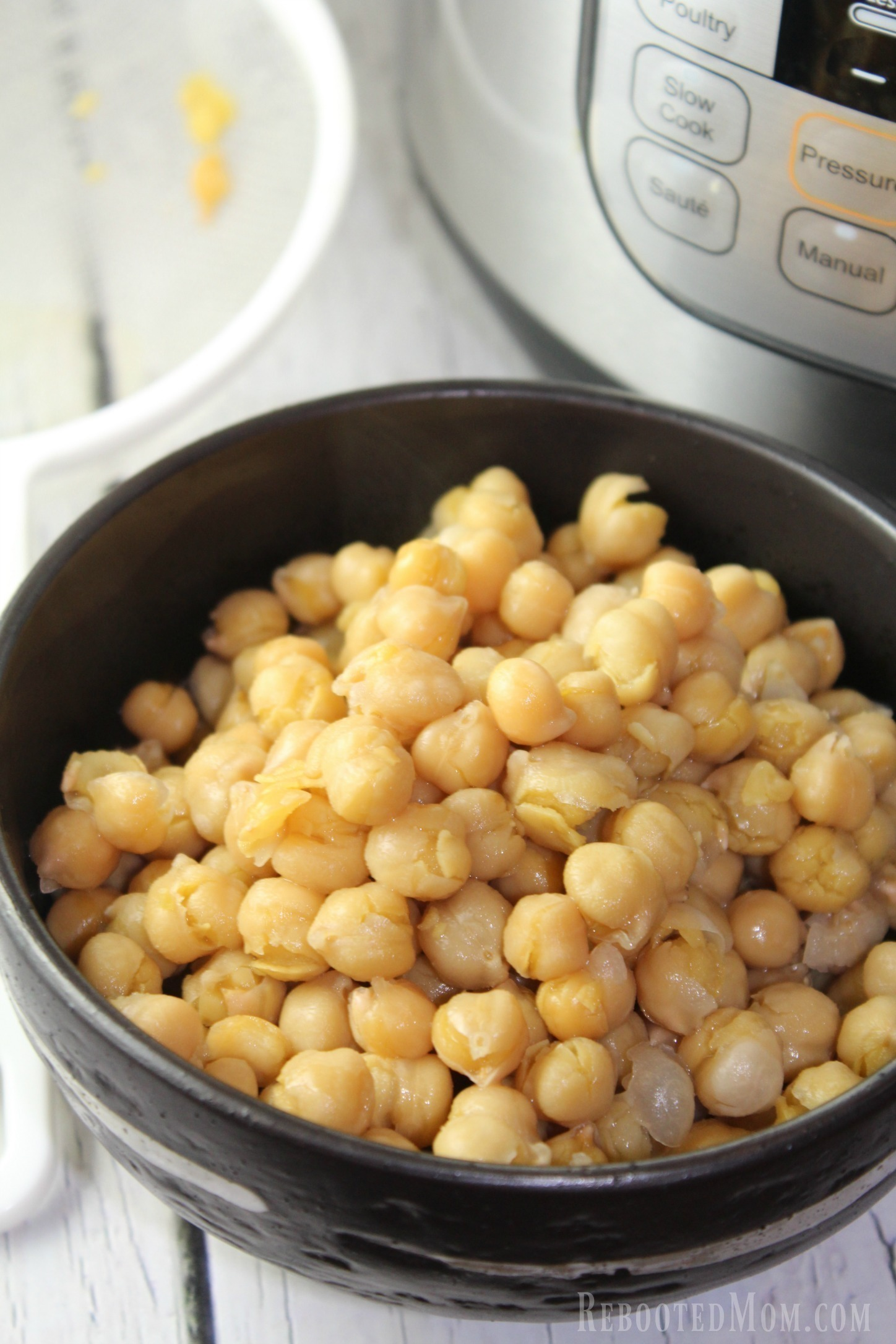 Try cooking chickpeas, or, garbanzo beans, in the Instant Pot or pressure cooker. This no-frills method is quick and easy!