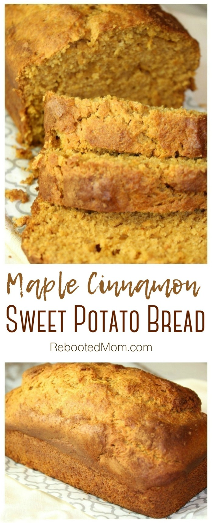 Our maple sweet potato bread blurs the line between breakfast and dessert & combines subtle spices of maple syrup, and sweet potatoes into one yummy loaf.
