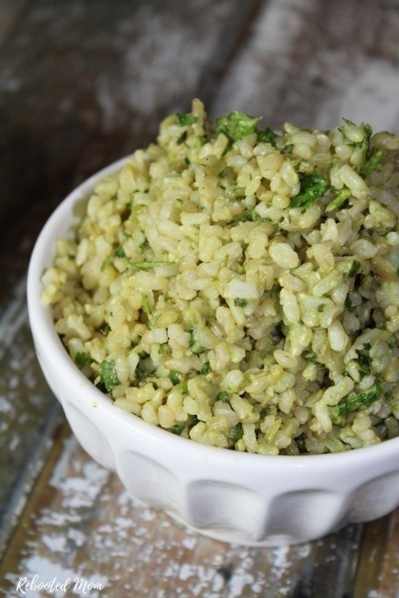 Combine cilantro and avocado, fresh lime and seasonings to give a nice twist to regular, brown rice!