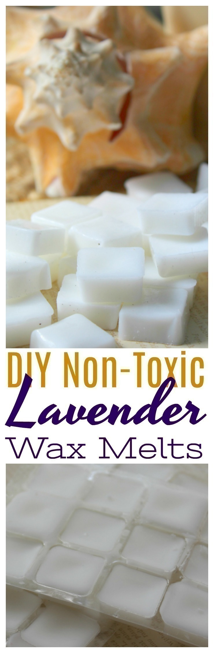These Non-Toxic Lavender Wax Melts are easy to DIY at home, and are wonderful to give as gifts for family and friends!