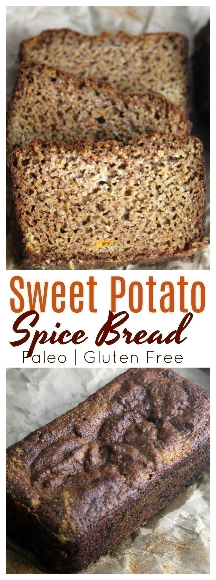 A simple, paleo and gluten free sweet potato spice bread that you can enjoy without any guilt!