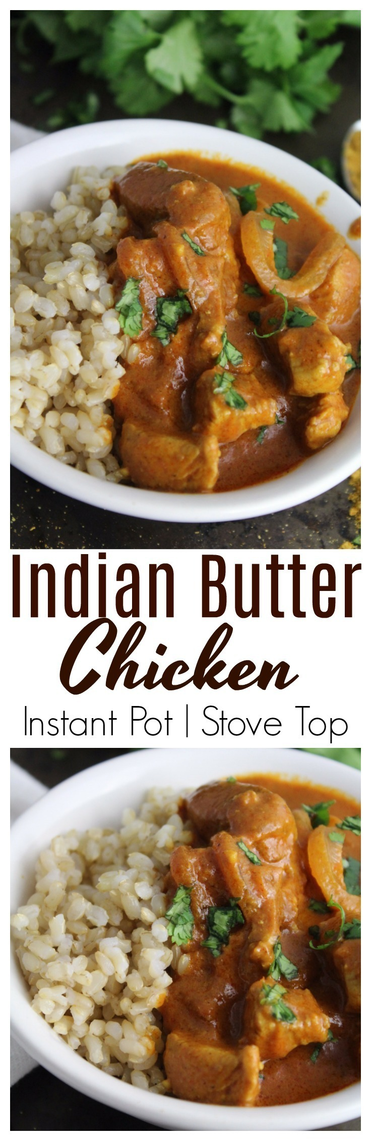 This Indian Butter Chicken uses rich, fragrant spices combined with chicken in a thick, butter sauce that's delicious when served on rice!