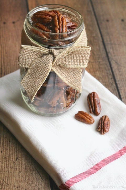 Easy Candied Pecans - Two Healthy Kitchens