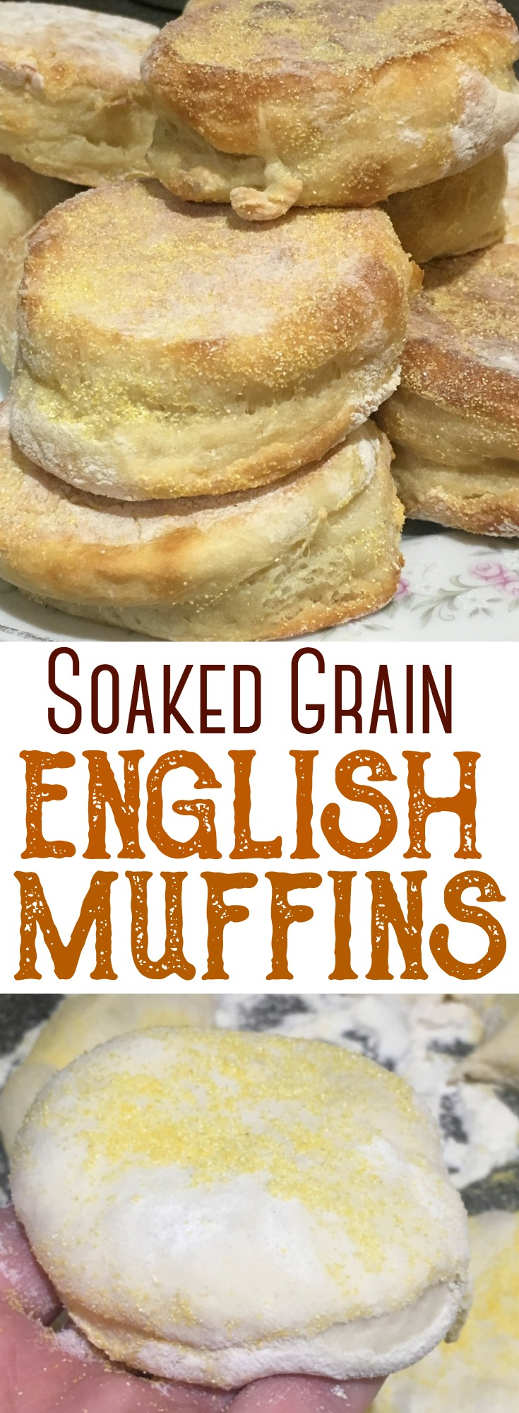 These soaked grain english muffins are a testament to traditional food preparation. Combine simple ingredients, soaked over time, to produce a wonderful, homemade english muffin that your family will love! #englishmuffins #soakedgrains #traditional #breadmaking #rawmilk