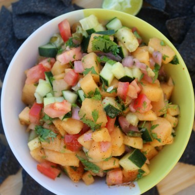 Healthy Cantaloupe Salsa