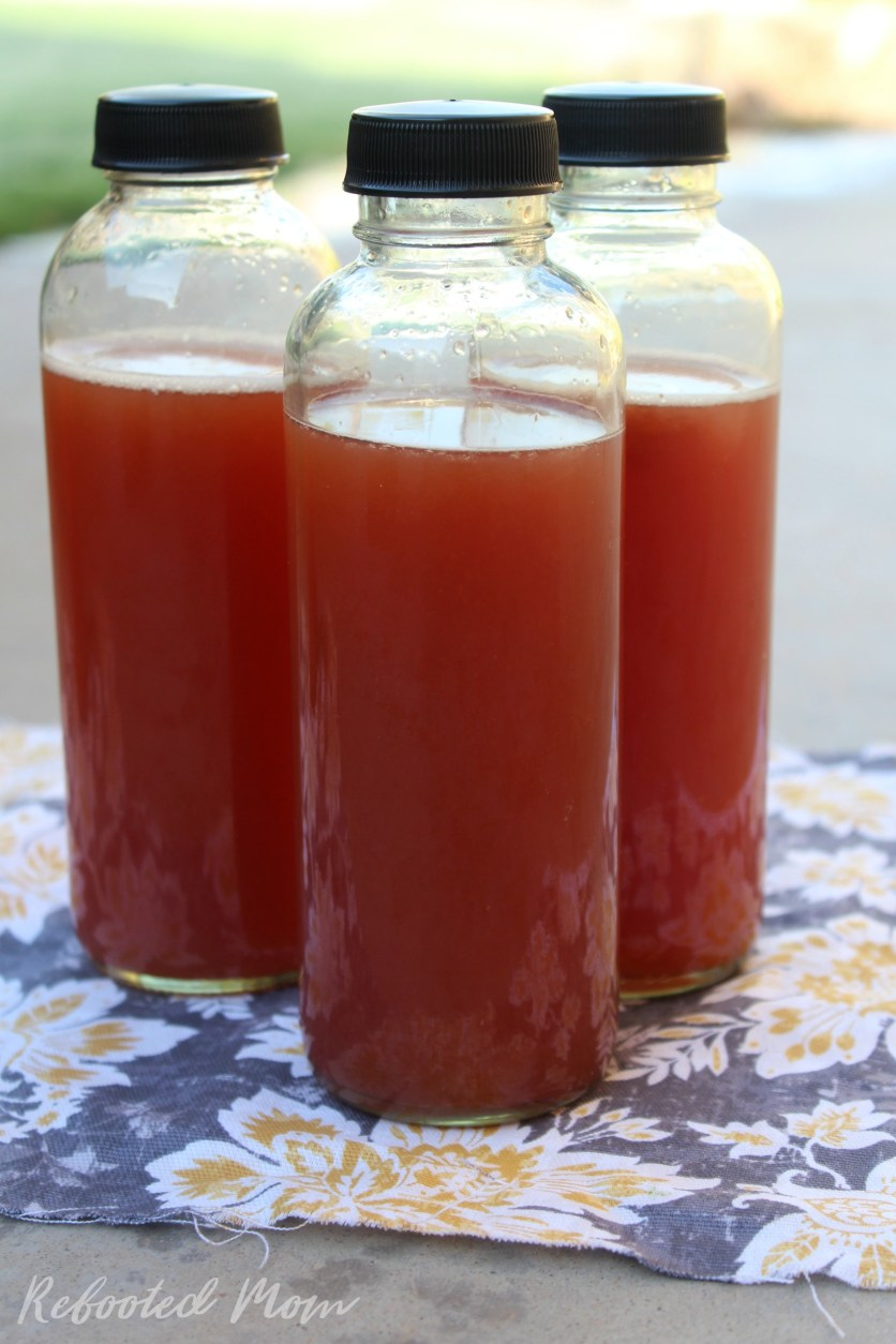 Watermelon Kombucha is the most recent awesome brew that I have tried. Learn how to second ferment your kombucha with a juicy, ripe watermelon!