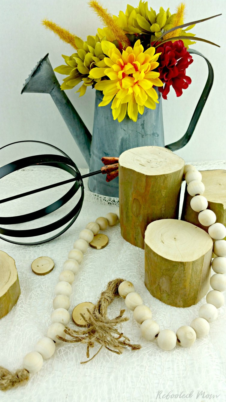 Are you looking to add a little farmhouse style to your home decor? Learn how to recreate your own farmhouse bead garland at home.