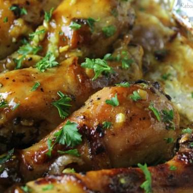Baked Honey Garlic Chicken Drumsticks