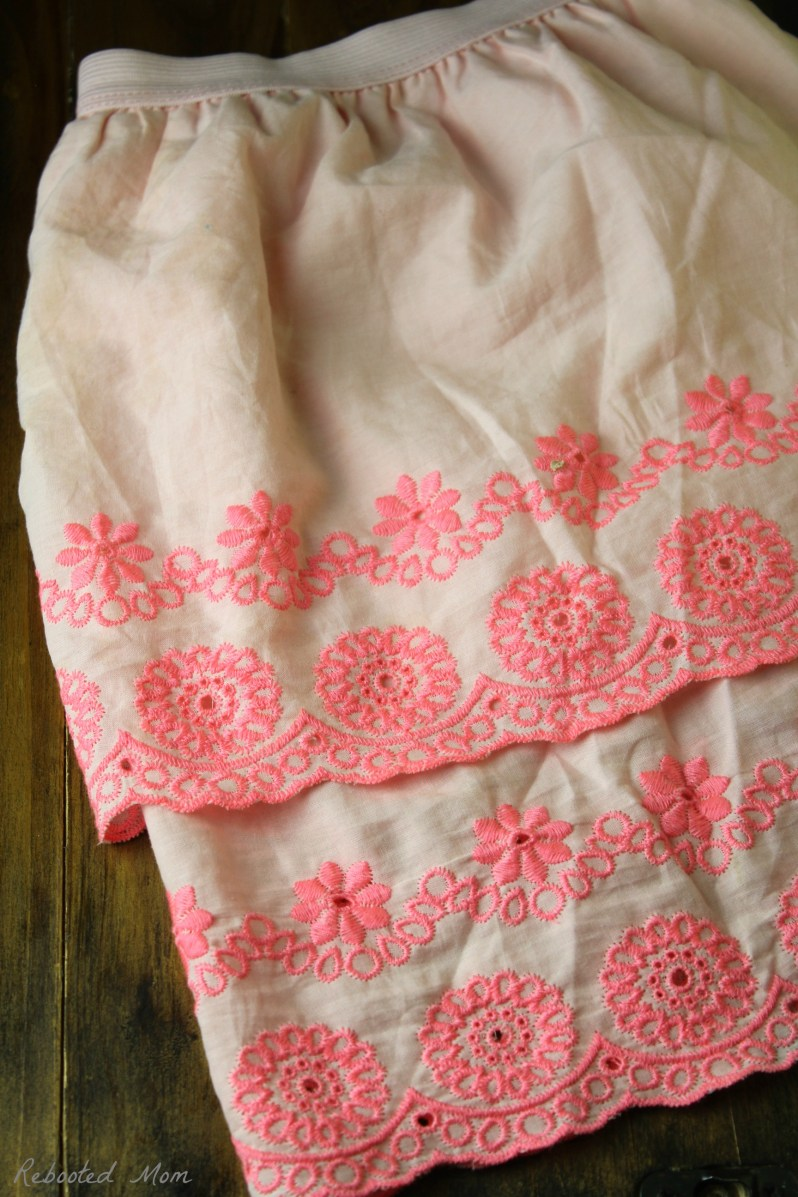 If you have little girls, this ruffle fabric skirt is a simple way to sew up something cute and adorable in just a few minutes!
