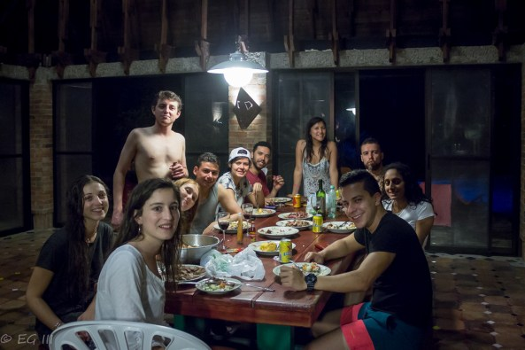 dinner at the finca