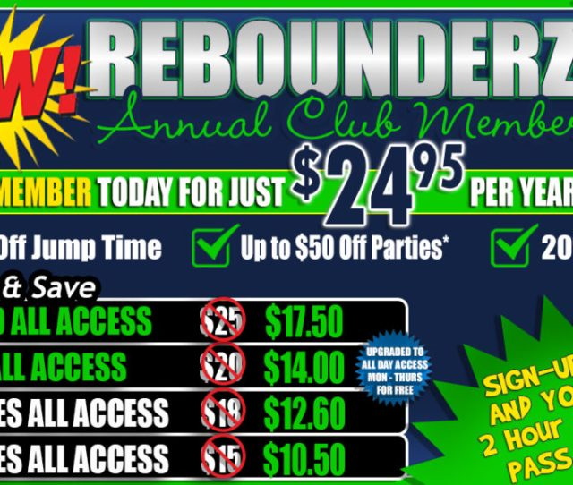 Become A Rebounderz Sacramento Club Member Today For Just 24 95 Per Year And Save