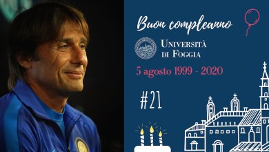 Photo of L'Università di Foggia compie 21 anni e Antonio Conte fa gli auguri all'Ateneo
