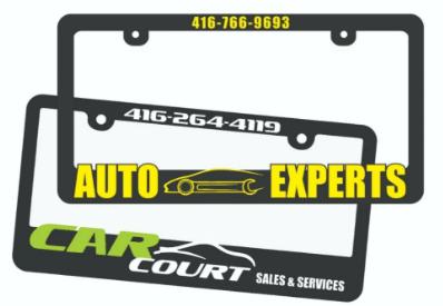Raised License Plate Frame