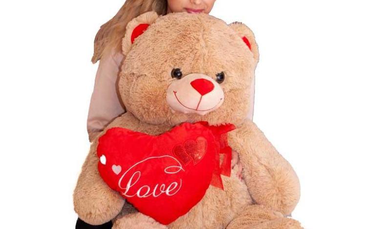 Giant teddy bear for girlfriend