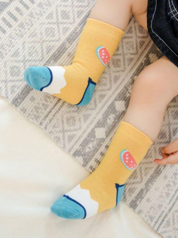 1 PACK BABY WATERMELON & GRAPHIC SOCKS