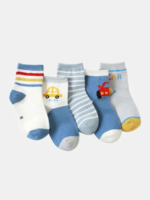 5 PACK BABY KID CARTOON SOCKS