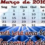 Calendário de Março de 2016