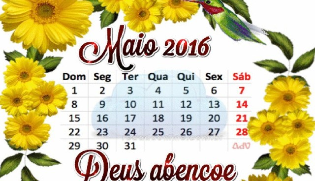 Calendário de Maio de 2016