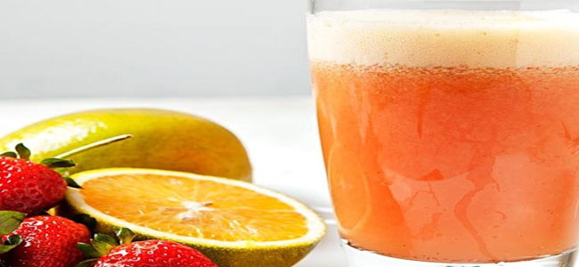 Suco de Laranja com Morango