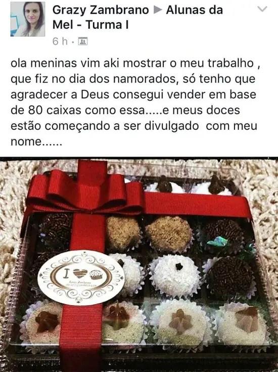 Brigadeiro Gourmet: embalagem feita por aluna