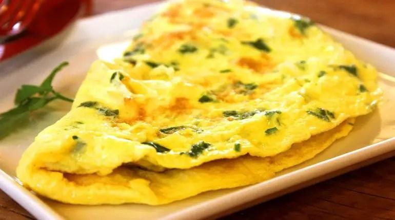 Receita de omeletes fáceis