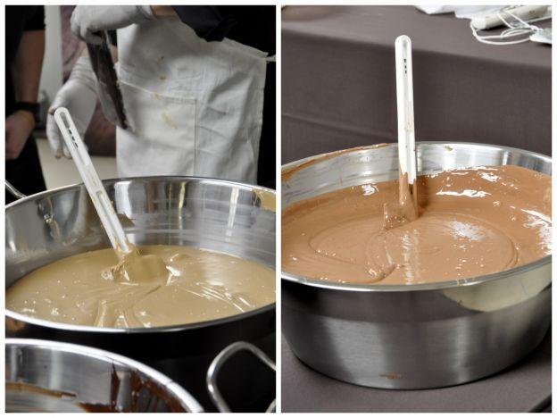Tudo começa com o chocolate temperado